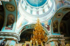 Interior Of Belarussian Orthodox Church Cathedral Royalty Free Stock Photography