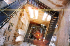 Interior of a Bell Tower of ancient Diocletian Palace in Split Royalty Free Stock Photography