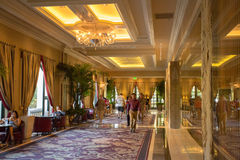 Interior of the Bellagio Casino hallway in Las Vegas Stock Photo