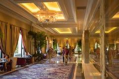 Interior of the Bellagio Casino hallway in Las Vegas Stock Photo