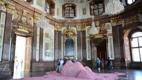 Interior of Belvedere Castle - Austria stock footage