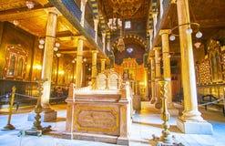 Interior of Ben Ezra Synagogue in Cairo, Egypt Royalty Free Stock Photo