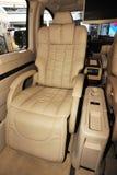 Interior of benz limo. Seat interior of luxury benz limousine Royalty Free Stock Photo