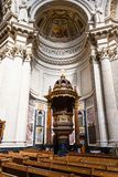 Interior of Berlin cathedral Berliner Dom Stock Image