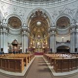 Interior of Berlin Cathedral, Germany Stock Photo