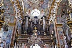 Interior Bernardine Church Stock Images