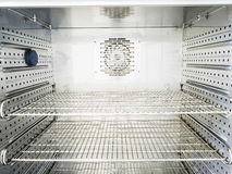 Interior of big electric oven Stock Photos