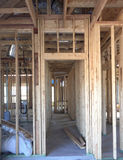 Interior of a big new house  under construction Royalty Free Stock Photo