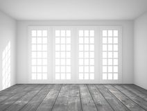 Interior with big window Royalty Free Stock Photo