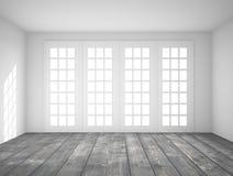 Interior with big window. White interior with big window royalty free illustration