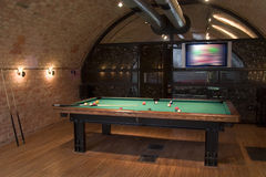 Interior with billard Royalty Free Stock Images