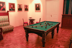 The interior of the billiard room of Paul the First. Royalty Free Stock Image