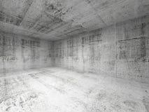 Interior blanco abstracto del sitio concreto vacío ilustración del vector