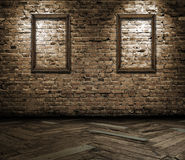 Interior with blank frames royalty free stock photo