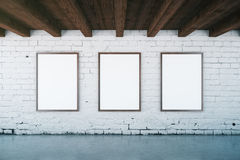 Interior with blank picture frames Stock Images