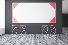 Interior with blank poster Royalty Free Stock Image