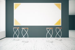 Interior with blank poster Stock Image
