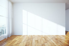 Interior with blank wall Stock Photography