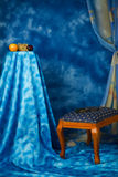 Interior in the blue colors. Refined �bstract interior in the blue colors Royalty Free Stock Photography