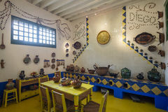 Interior of the Blue House of Frida Kahlo La Casa Azul Royalty Free Stock Photo