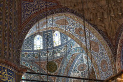 Interior of Blue Mosque Stock Images
