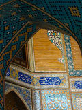 Interior of Blue Mosque, Isfahan Royalty Free Stock Images