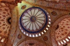 Interior of Blue Mosque in Istanbul, Sultanahmet Stock Photos