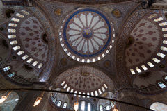 Interior of the Blue Mosque / Istanbul, Turkey Stock Photos