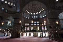 Interior of the Blue Mosque / Istanbul, Turkey Royalty Free Stock Image
