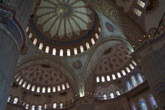 Interior of Blue Mosque, Istanbul Stock Photography