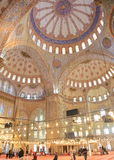 Interior of the Blue Mosque Stock Photo