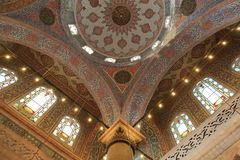 Interior of the Blue Mosque Royalty Free Stock Images