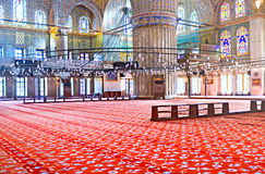 Interior of the Blue Mosque Stock Images