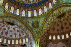 Interior of the Blue Mosque, Istanbul. Turkey Royalty Free Stock Photography