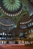 Interior of the Blue Mosque, Istanbul. Turkey Royalty Free Stock Photos
