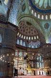 Interior of the Blue Mosque, Istanbul. Turkey Stock Photography