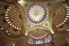 Interior of Blue mosque Istanbul Royalty Free Stock Images
