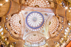 Interior of Blue Mosque Royalty Free Stock Photography