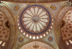 Interior of the Blue Mosque. Interior of the Sultanahmet Mosque (Blue Mosque) in Istanbul, Turkey Royalty Free Stock Images