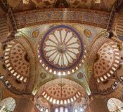 Interior of the Blue Mosque. Interior of the Sultanahmet Mosque (Blue Mosque) in Istanbul, Turkey Stock Photo