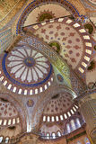 The interior of the Blue mosque, Sultanahmet, in Istanbul, Stock Images