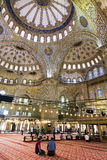 The interior of the Blue mosque, Sultanahmet, Stock Images