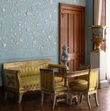 Interior of the Blue room Vorontsovsky Palace. ALUPKA,UKRAINE,SEPTEMBER 10: Vorontsovsky Palace English style, built in 1830-48 according to a project by Edward royalty free stock photography