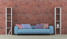 Interior with blue sofa Royalty Free Stock Photo