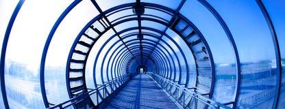 Interior blue tunnel Royalty Free Stock Photos