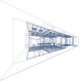 Interior blueprint on black stock photo