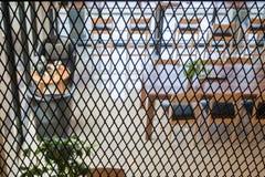 Interior blur of street coffee shop Stock Image