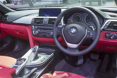 Interior of BMW car Stock Photo