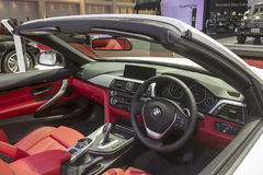 Interior of BMW car Stock Photos