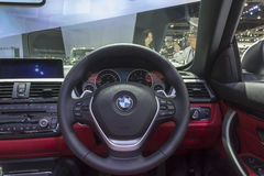 Interior of BMW car Royalty Free Stock Photography